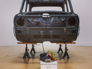Stuart Whipps' The Kipper and The Corpse with sculpture by David Rushworth, British Art Show 8