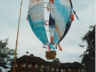 Balloon by the Arts Club at Meanwood Park Hospital