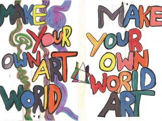Make Your Own Art World / Make Your Own World Art by Ria