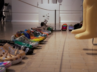 Walking in our Shoes by the Eden Group, in response to the British Art Show 8 at Leeds Art Gallery